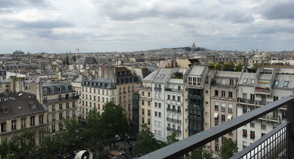 Vue de Paris du Centre Pompidou Photo CG